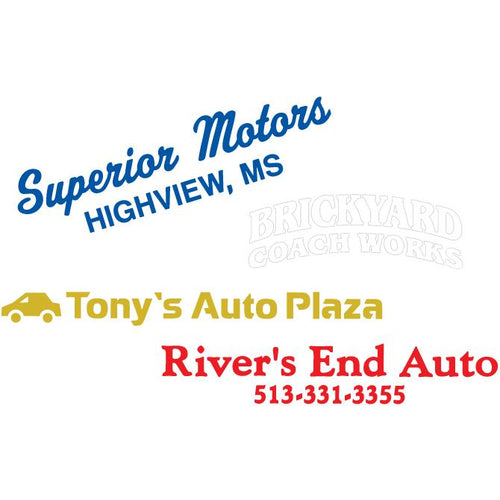 Custom Die-Cut Auto Decals Sales Department Alabama Independent Auto Dealers Association Store