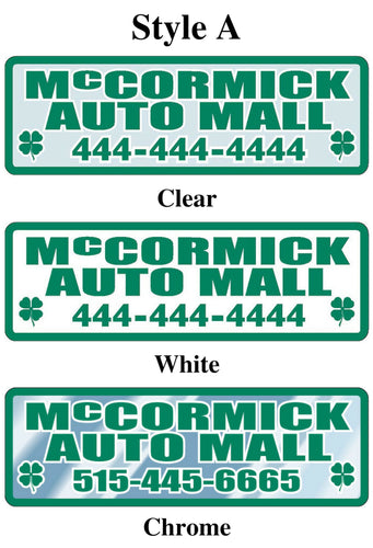 Custom Domed Auto Decals Sales Department Alabama Independent Auto Dealers Association Store Style A White