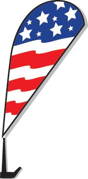 Clip-On Paddle Flags Sales Department Alabama Independent Auto Dealers Association Store American Flag