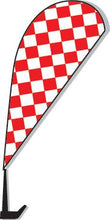 Load image into Gallery viewer, Clip-On Paddle Flags Sales Department Alabama Independent Auto Dealers Association Store Checkered - Red