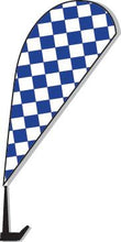 Load image into Gallery viewer, Clip-On Paddle Flags Sales Department Alabama Independent Auto Dealers Association Store Checkered - Blue