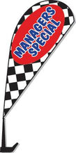 Load image into Gallery viewer, Clip-On Paddle Flags Sales Department Alabama Independent Auto Dealers Association Store Checkered - Managers Special