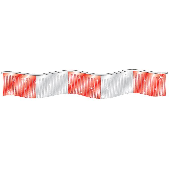 Streamers and Pennants Sales Department Alabama Independent Auto Dealers Association Store Metallic Streamers - Red/Silver
