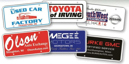 Custom Poly-Coated Cardboard License Plates Sales Department Alabama Independent Auto Dealers Association Store