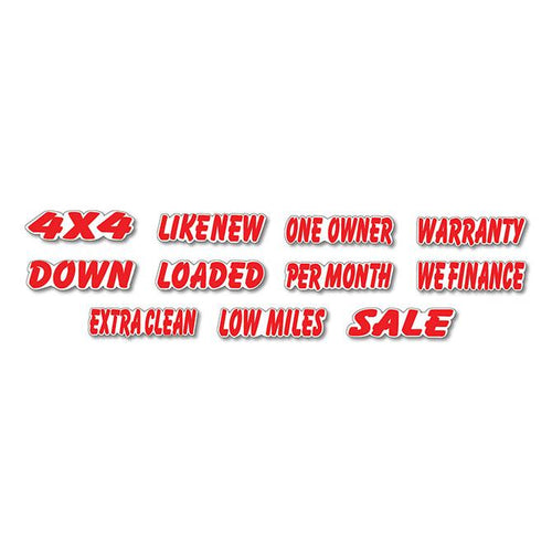 Die-Cut Slogan Window Stickers Sales Department Alabama Independent Auto Dealers Association Store