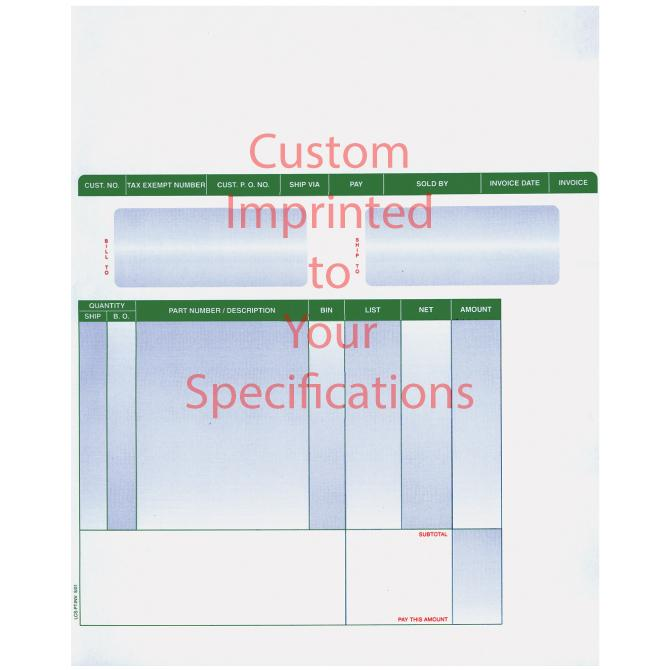 Imprinted Laser Part Invoices Parts Department Alabama Independent Auto Dealers Association Store Laser Part Invoice