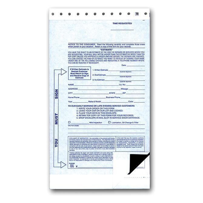 2-Part State Night Drop Envelopes (500 Per Box) Service Department Alabama Independent Auto Dealers Association Store