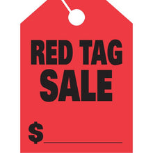 Load image into Gallery viewer, Jumbo Mirror Hang Tags Sales Department Alabama Independent Auto Dealers Association Store Red Tag Sale Fluorescent Red