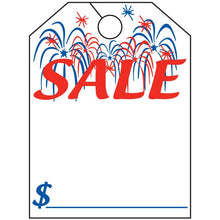 Load image into Gallery viewer, Jumbo Mirror Hang Tags Sales Department Alabama Independent Auto Dealers Association Store Patriotic Sale White