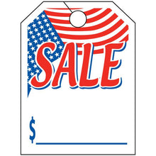 Load image into Gallery viewer, Jumbo Mirror Hang Tags Sales Department Alabama Independent Auto Dealers Association Store American Flag Sale White