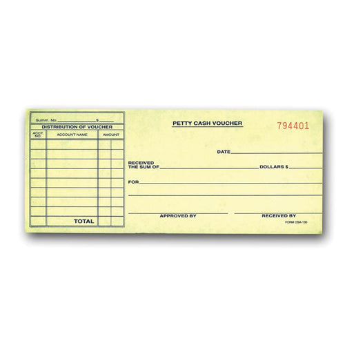 Petty Cash Voucher Office Forms Alabama Independent Auto Dealers Association Store