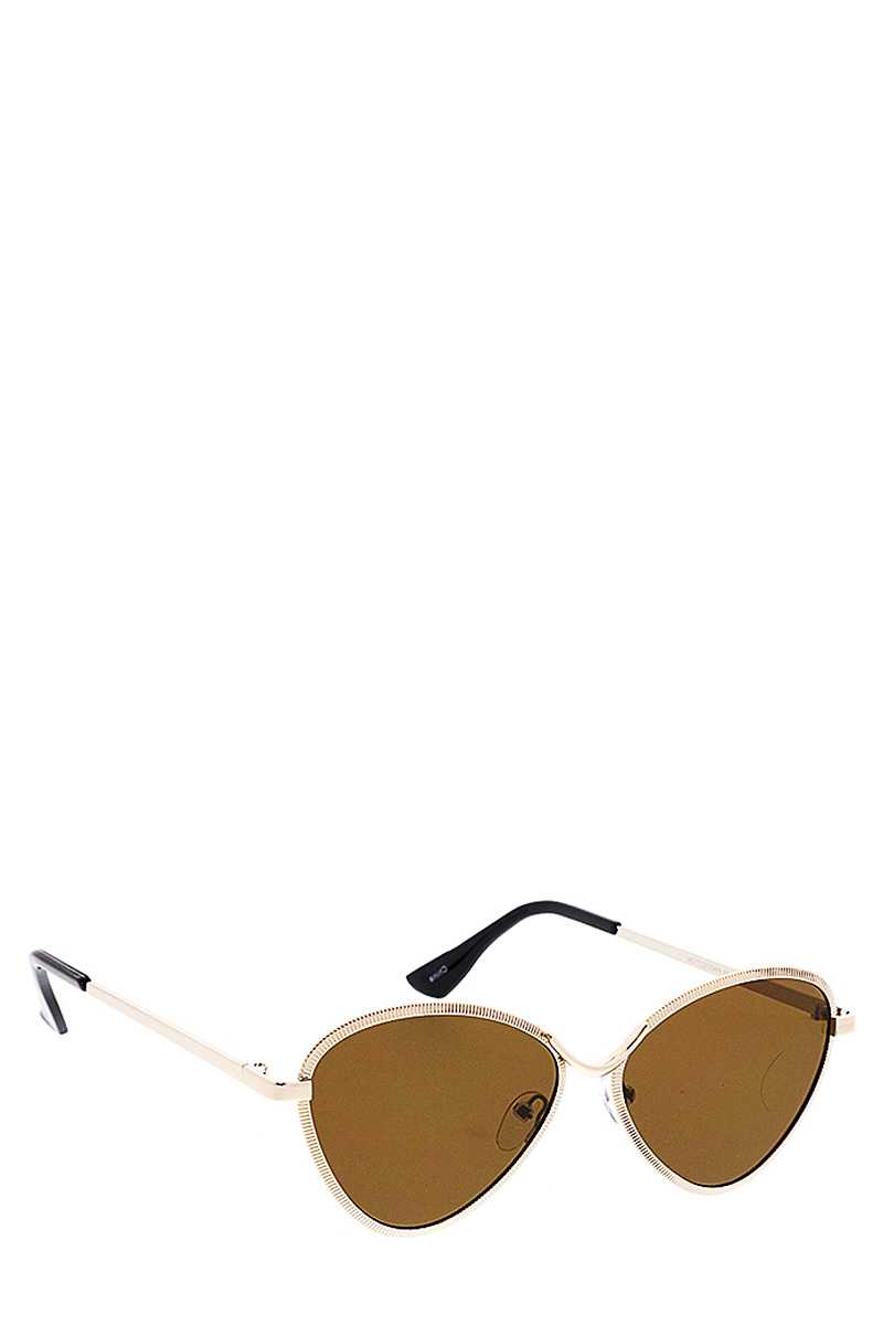 Shaded Tint Round Sunglasses