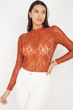 Load image into Gallery viewer, Sheer Floral Lace Bodysuit