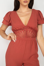 Load image into Gallery viewer, V-neck Lace Jumpsuit