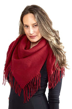 Load image into Gallery viewer, Solid Color Blanket Scarf With Fringes