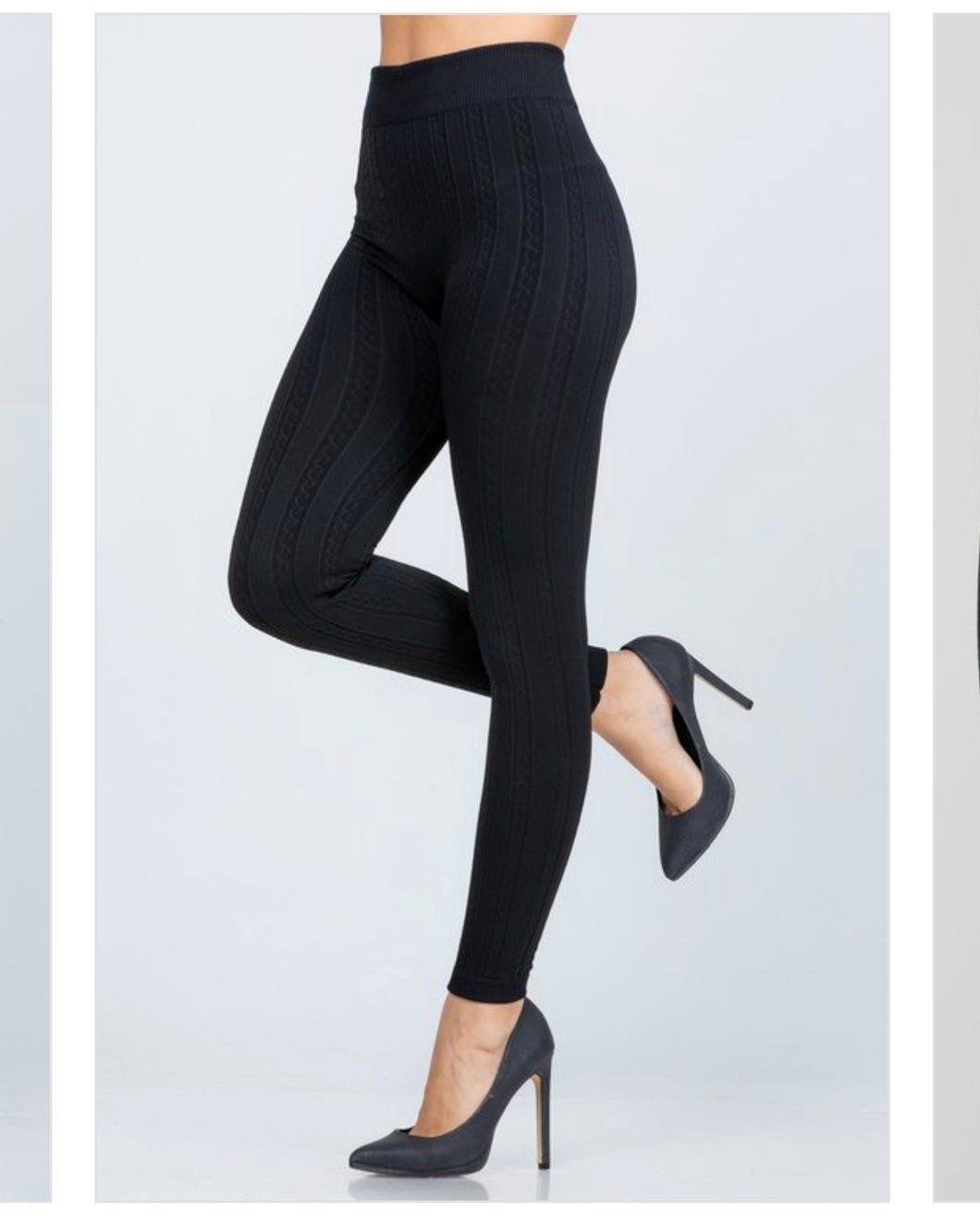 Textured high waist leggings
