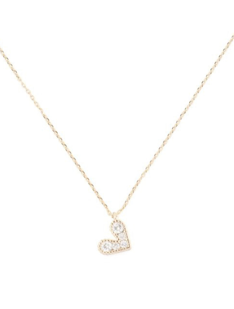 Gold heart necklace, Mama