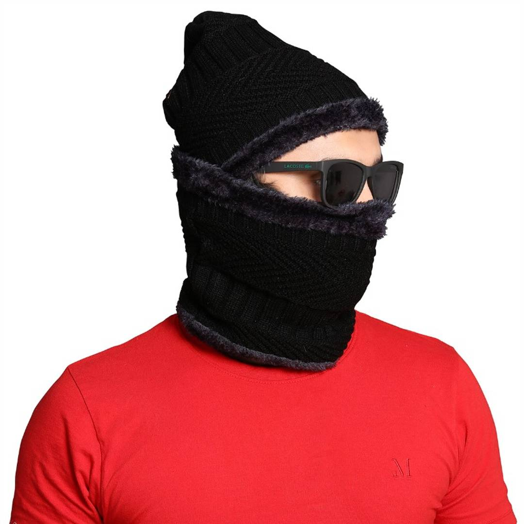 Men Woolen Cap With Muffler Aavari