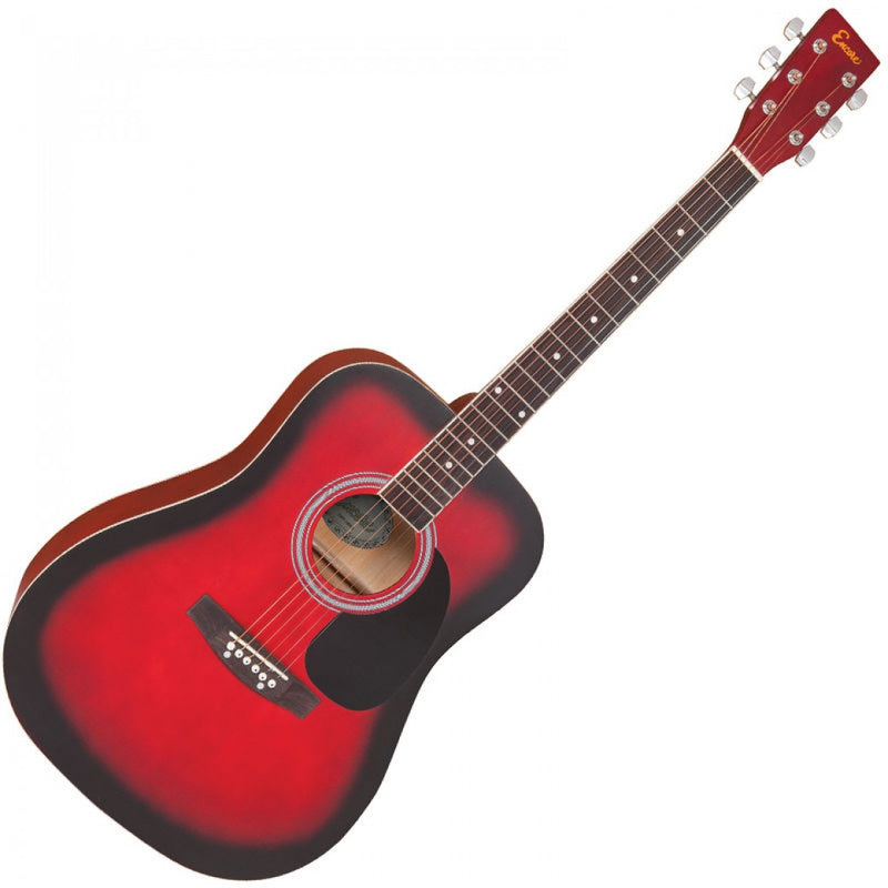 ENCORE ACOUSTIC GUITAR ~ REDBURST