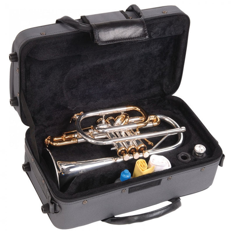 ODYSSEY PREMIERE 'BB' CORNET OUTFIT ~ SILVER PLATED