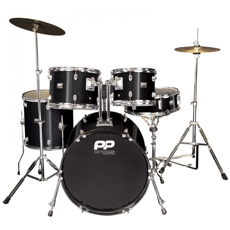 PP DRUMS 5PC FUSION DRUM KIT ~ BLACK