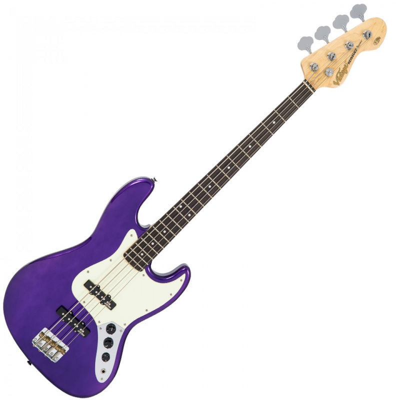 VINTAGE VJ74 REISSUED BASS GUITAR ~ PURPLE