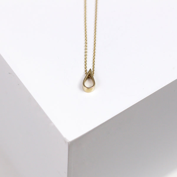 Water drop cut out Necklace