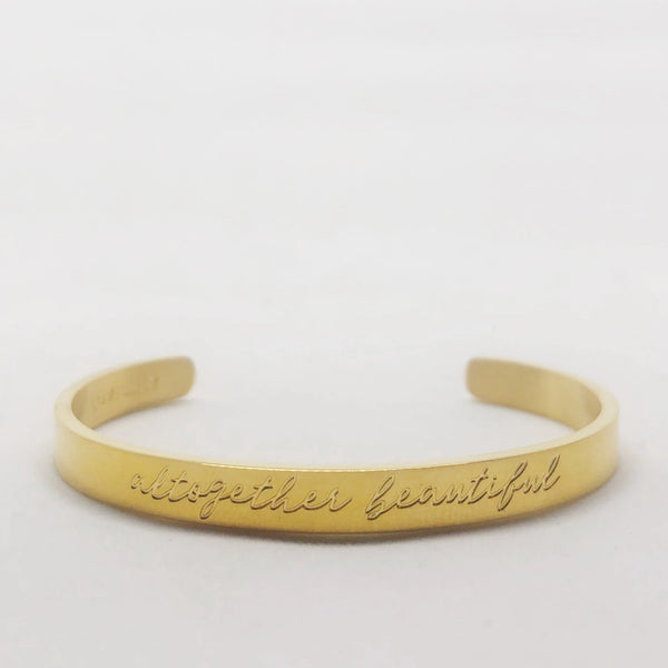 Altogether Beautiful gold stacking cuff