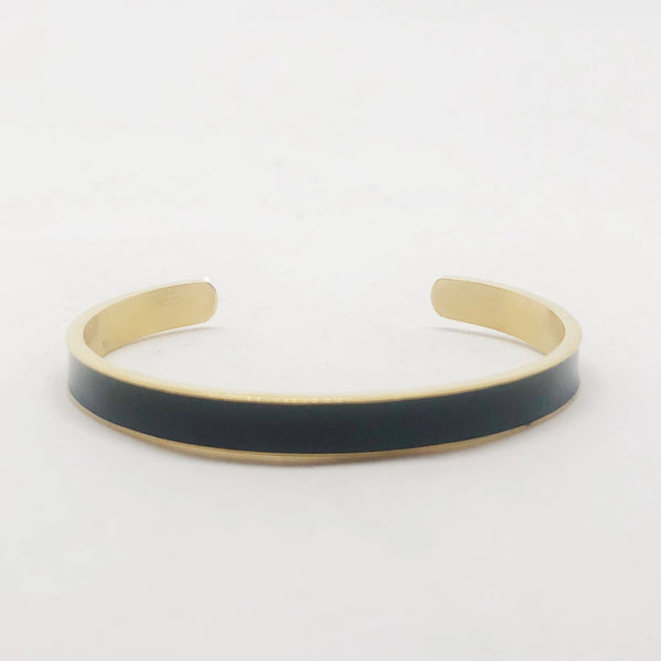 Love Black and Gold Stacking Cuff