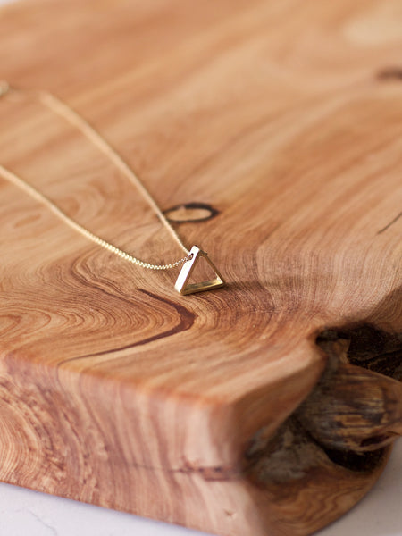 Sisterhood triangle necklace