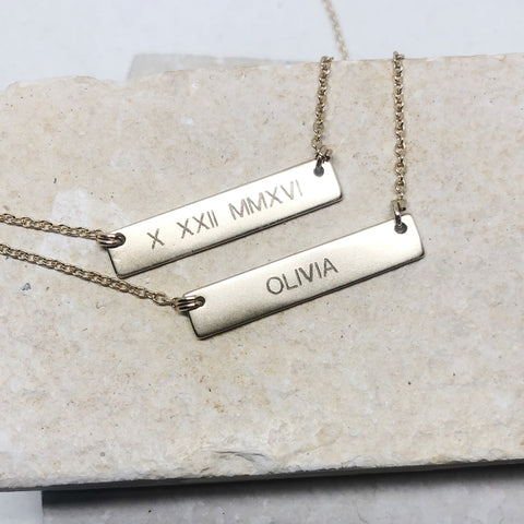 The Madison- Custom Bar Necklace