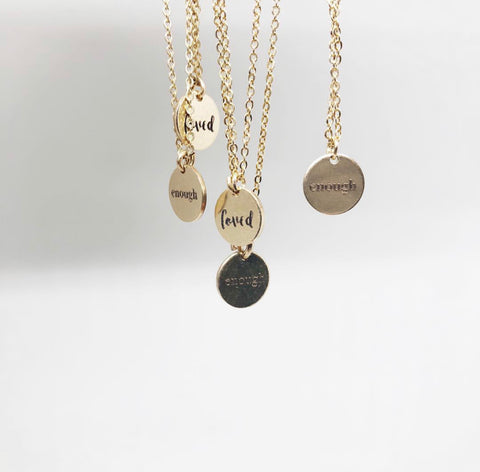 CUSTOM Word of the Year Necklace