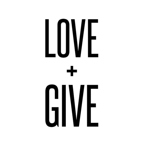 Love + Give Sticker