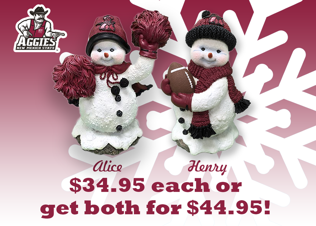 Aggie Alice and Aggie Henry Snowman Figure Combo Pack
