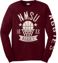 Load image into Gallery viewer, NMSU Vintage Basketball Long-Sleeve Tee