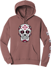 Load image into Gallery viewer, NM State Rosewood Sugar Skull Hoodie