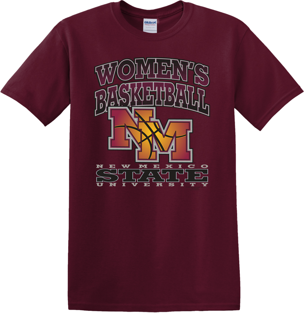 Maroon NMSU Women's Basketball T-Shirt