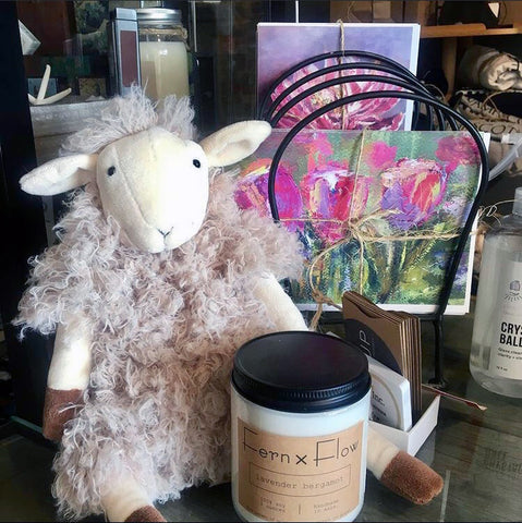 Fern x Flow's Lavender Bergamot candle at The Hiccup