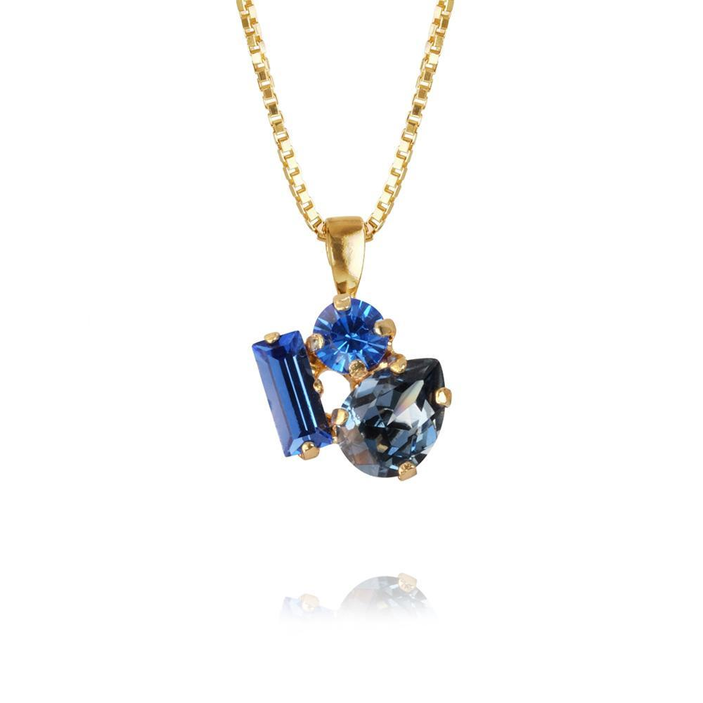 Isa Necklace / Blue Combo, gold from Caroline Svedbom