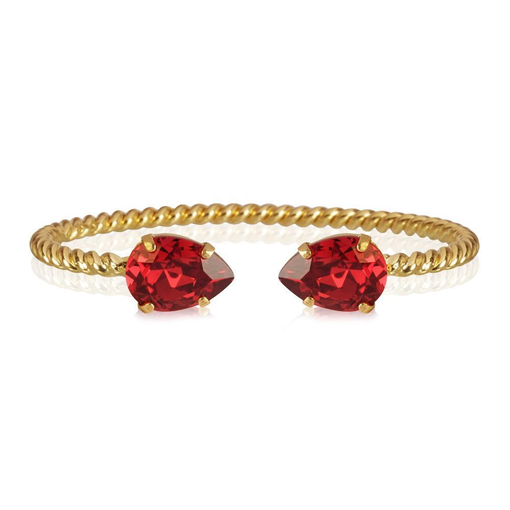 Mini Drop Bracelet / Scarlet, gold