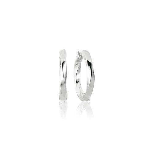 Elegant 925 sterling silver twisted hoops earrings