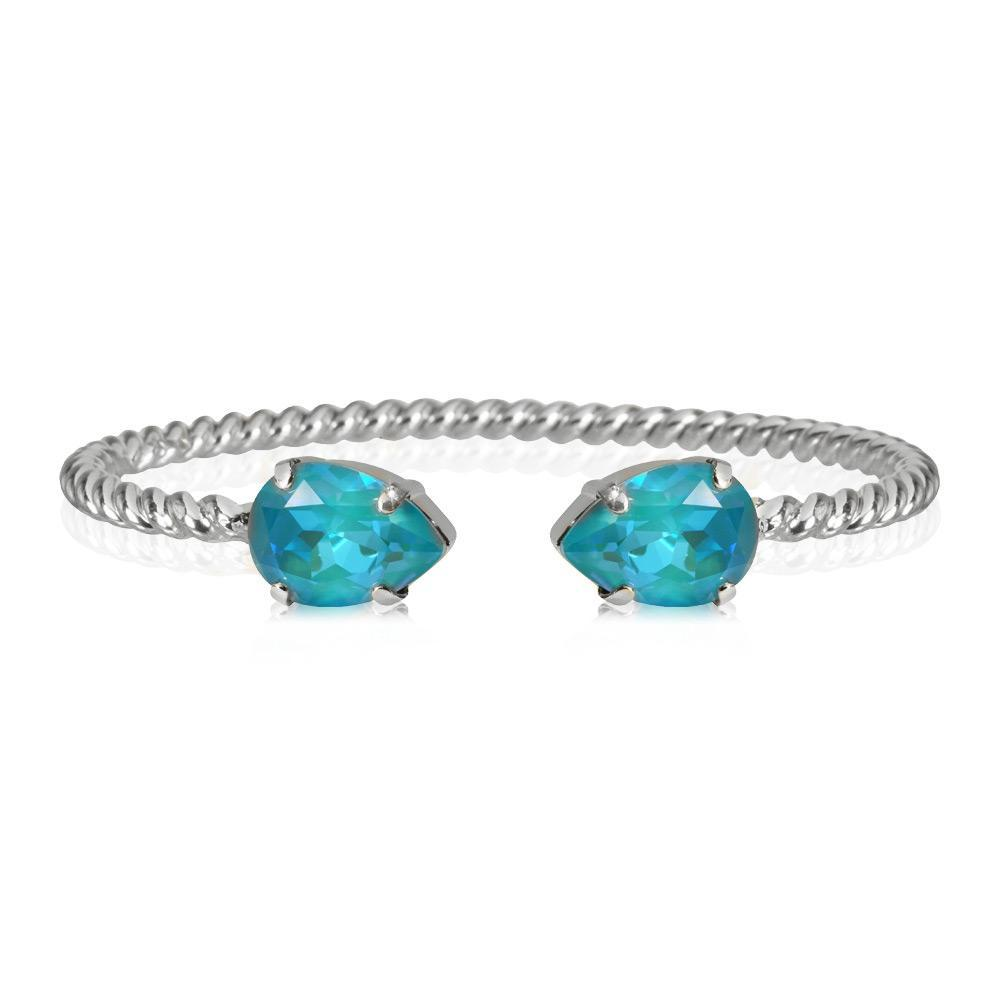 Mini Drop Bracelet / Laguna Delite, rhodium