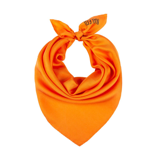 SIMPLY SILK. Tis scarf is a perfect accessory that fits with everything. Wear it around your neck, on your hair or tied at your handbag. 5% of the price of the scarf is donated to Lazarro Spallanzani Hospital in Rome for research on Covid-19.   Colour: Orange  Pure silk   Made in Italy  40x40cm approximately