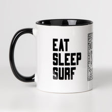 Lade das Bild in den Galerie-Viewer, EAT SLEEP SURF Keramiktasse