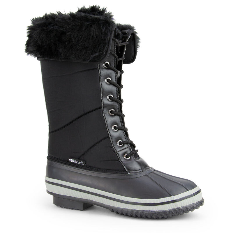 Nord Trail Women's Emma Black Snow Winter Boots
