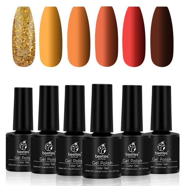 Gel Polish 6 Colors Set | Pumpkin Spice