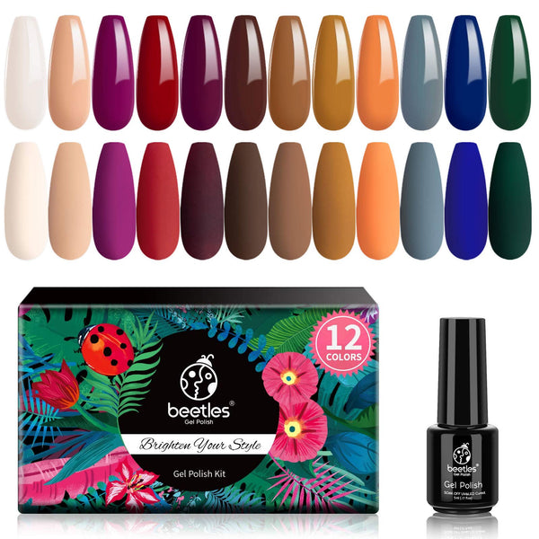 Beetles Gel Nail Polish 12 Colors Set | Colors of 2020