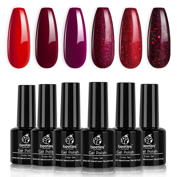 Gel Polish 6 Colors Set | Poinsettia