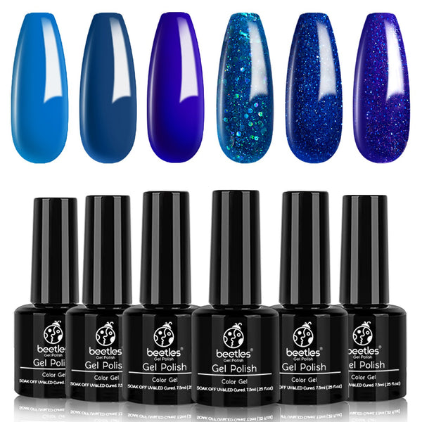 Gel Polish 6 Colors Set | Blue Jeans Baby