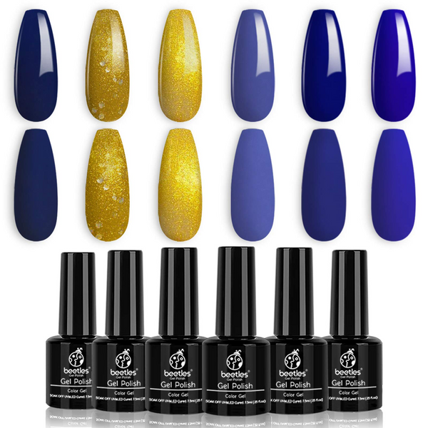 Gel Polish 6 Colors Set | Golden Galaxy